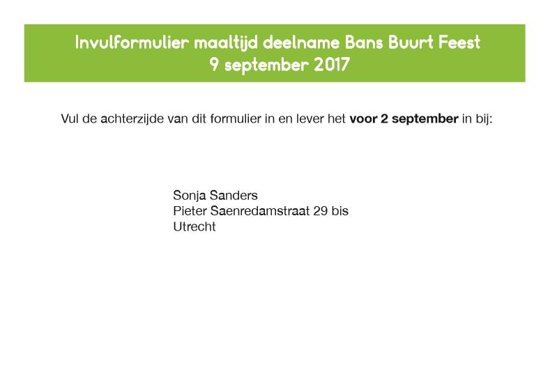 Bans Buurtfeest 2017